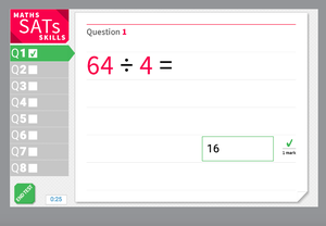 Divide using knowledge of times tables - KS2 Maths Sats Arithmetic - Interactive Exercise