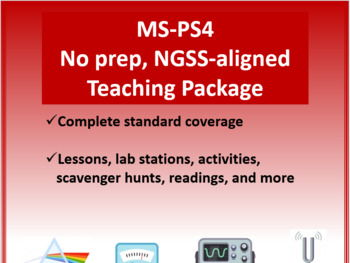 Complete Resource Package for NGSS - MS PS4 Waves