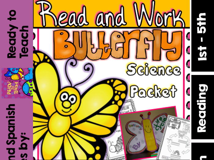 Butterfly - Read and Work - Science Packet - Craft Added