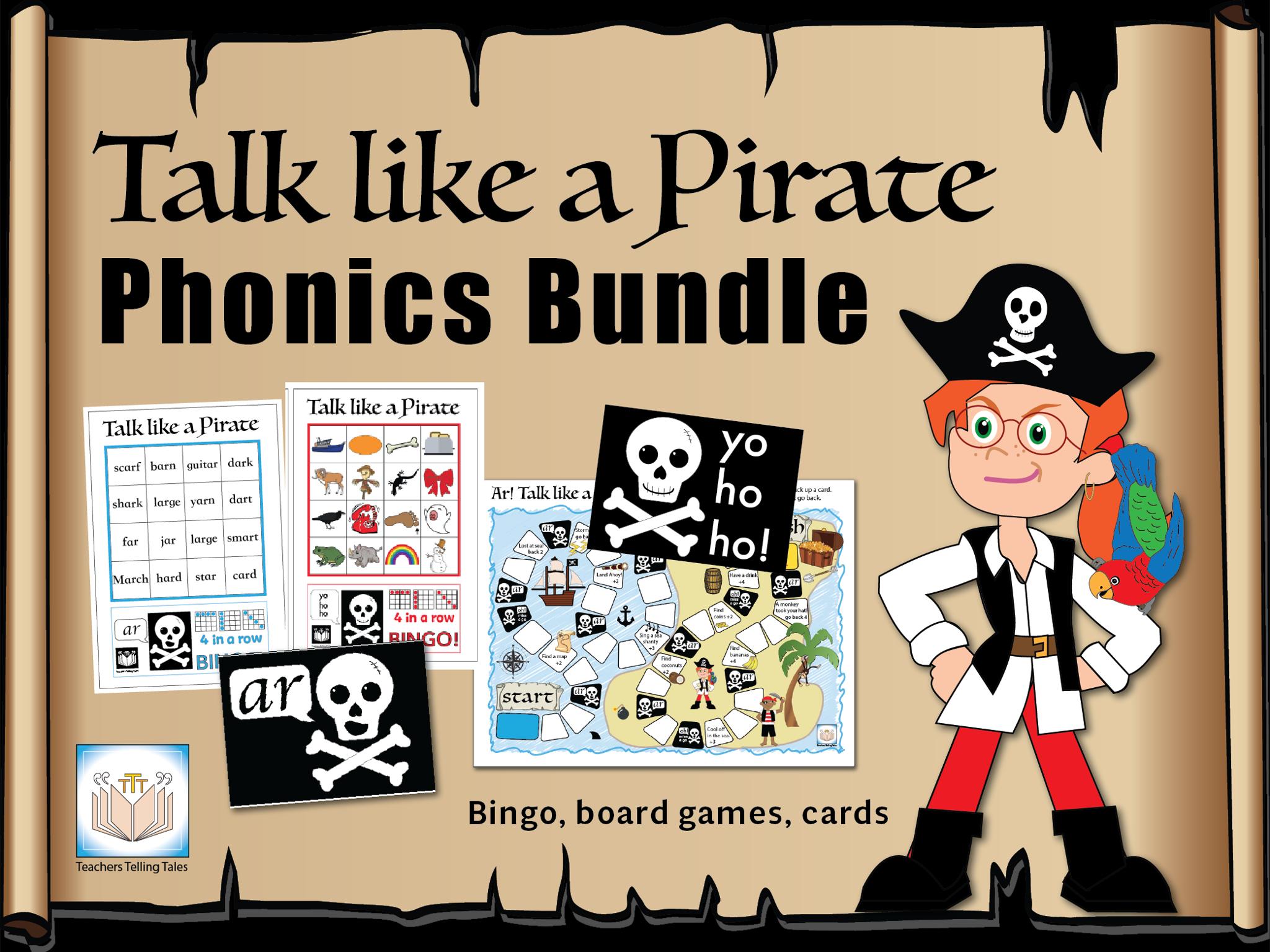 Talk like a Pirate Phonics Bundle