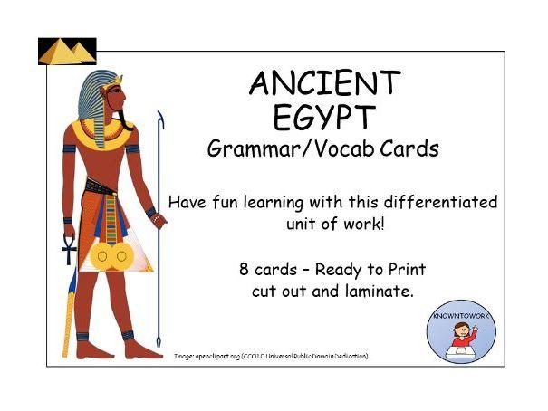 AncientEgyptVocab+GrammarCards