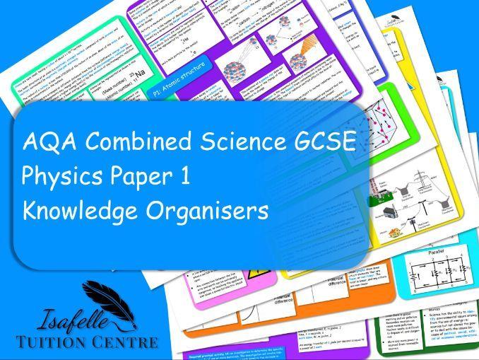 GCSE Physics P1 Energy Knowledge Organiser AQA Combined Science