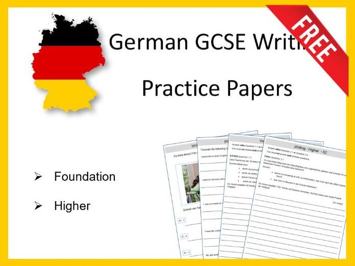 German GCSE Practice Papers Writing Foundation + Higher
