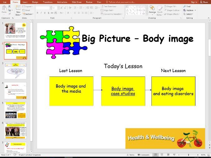 Health and Wellbeing - Body Image case studies