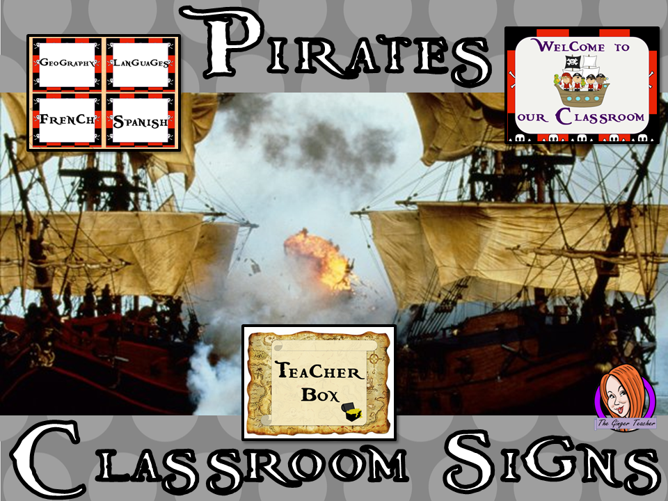 Pirate Themed Classroom Signs