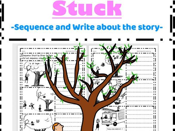 Stuck by Oliver Jeffers - Sequencing and Writing Activity