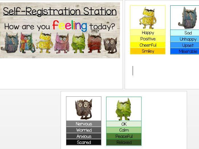Colour Monster Emotion Self Registration