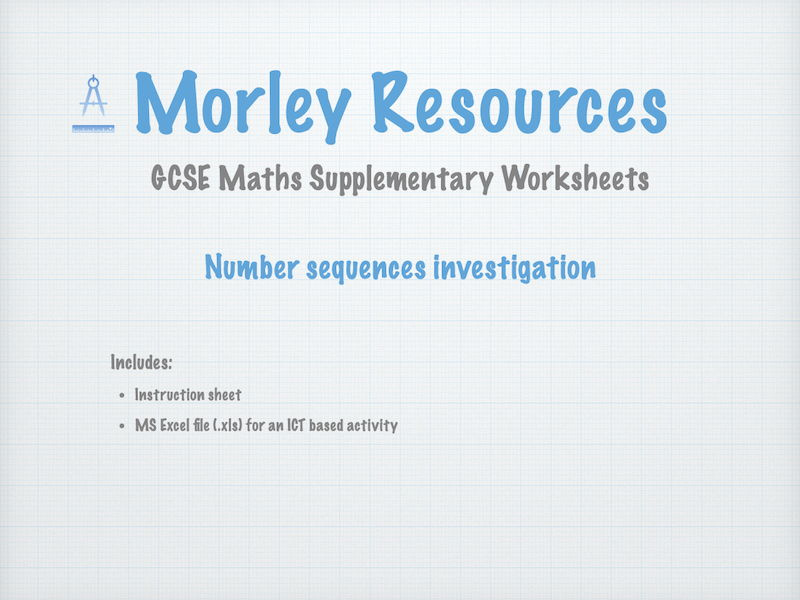 GCSE Maths Number Sequences Investigation