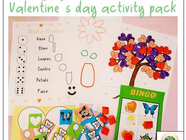 Valentine's day activity infants ESL: Full pack for a full lesson!