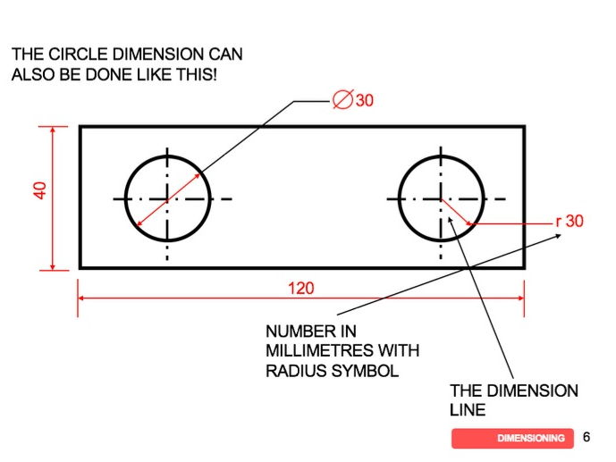 GCSE DT 1 to 9: Drawing Graphical Techniques: Dimensioning