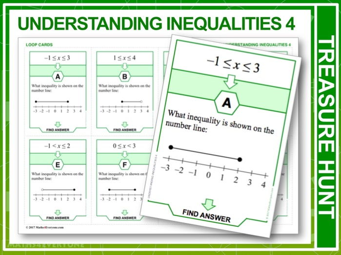 Understanding Inequalities 4 (Treasure Hunt)
