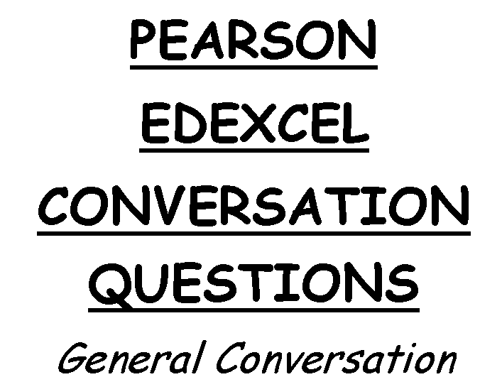 GCSE French Conversation Questions Studio Edexcel Higher
