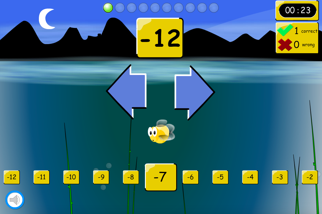 Up or Down the Number Line Interactive Game - KS2 Number