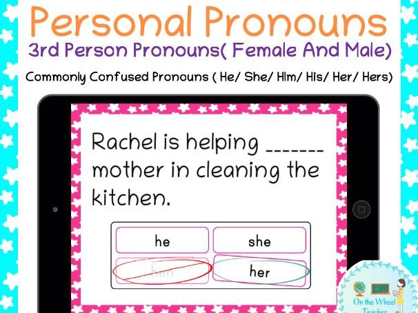 Pronouns Boom Cards For Distance Learning