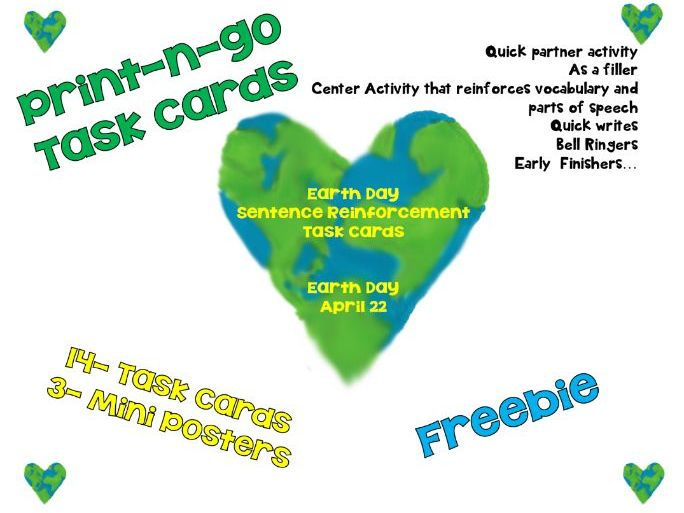 Free earth day themed task cards ccss aligned for 4th and 5th cover image ccuart Image collections