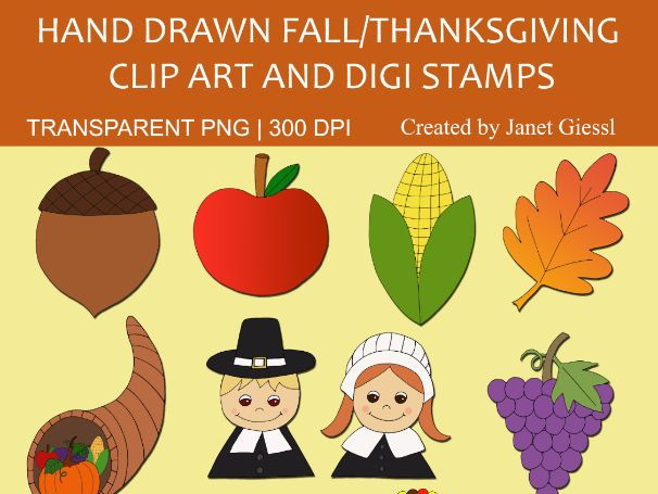 Fall/Thanksgiving Clip Art and Digi Stamps