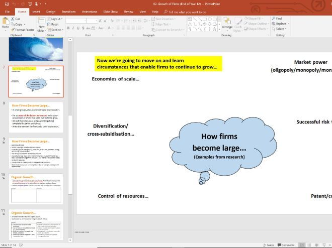 02. Growth of Firms (Slides, Activities and Notes) - Edexcel A-Level Economics - Theme 3