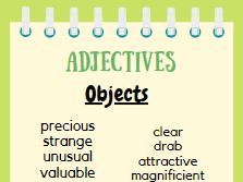 Adjectives Display Posters