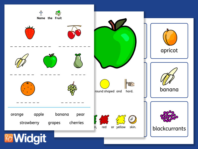 Fruit Pack with Widgit Symbols