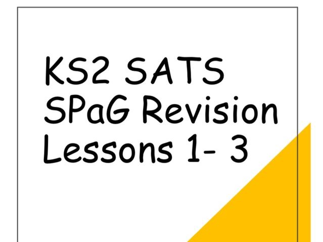 Y6 SATS SPaG Revision Lessons