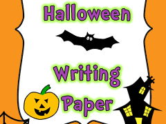 Halloween Writing paper Borders