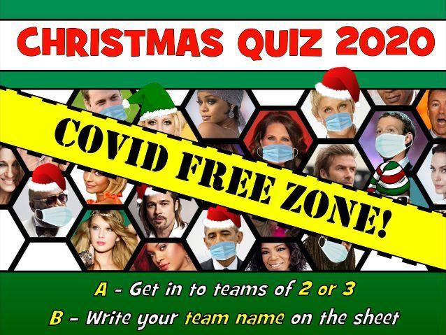 CHRISTMAS QUIZ 2020 - COVID FREE!!!