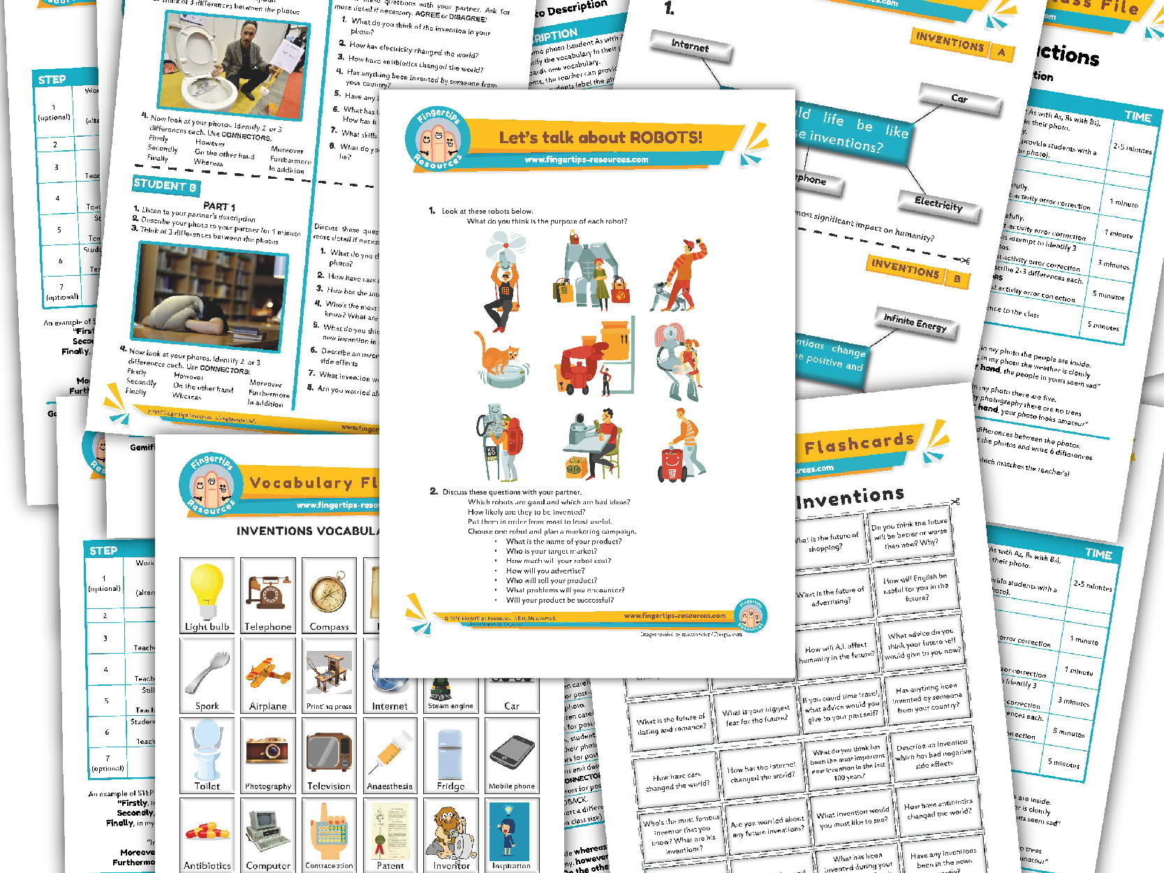 Inventions Unit - ESL Activity Bundle