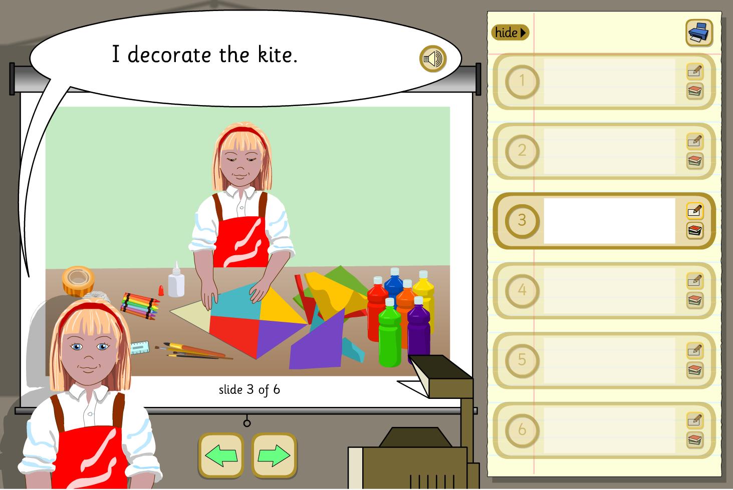 Create a Presentation Activity - Making a Kite - KS1 Literacy