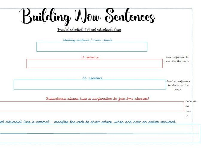 Building Wow Sentences Subordinate and Relative Clauses