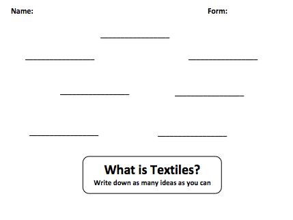 Intro To Textiles