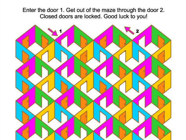Rooms and doors maze game