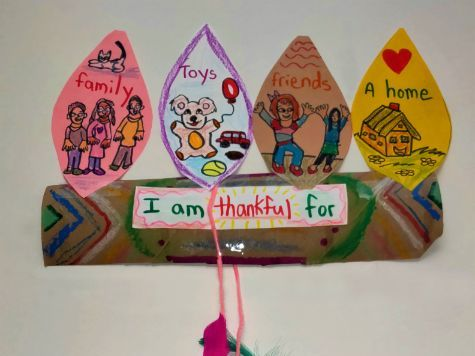 Mixed Media Stuffed Hand Thankful Turkey Mobile