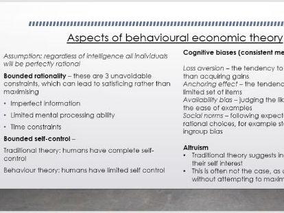 AQA A-Level Economics - Individual Economic Decision Making