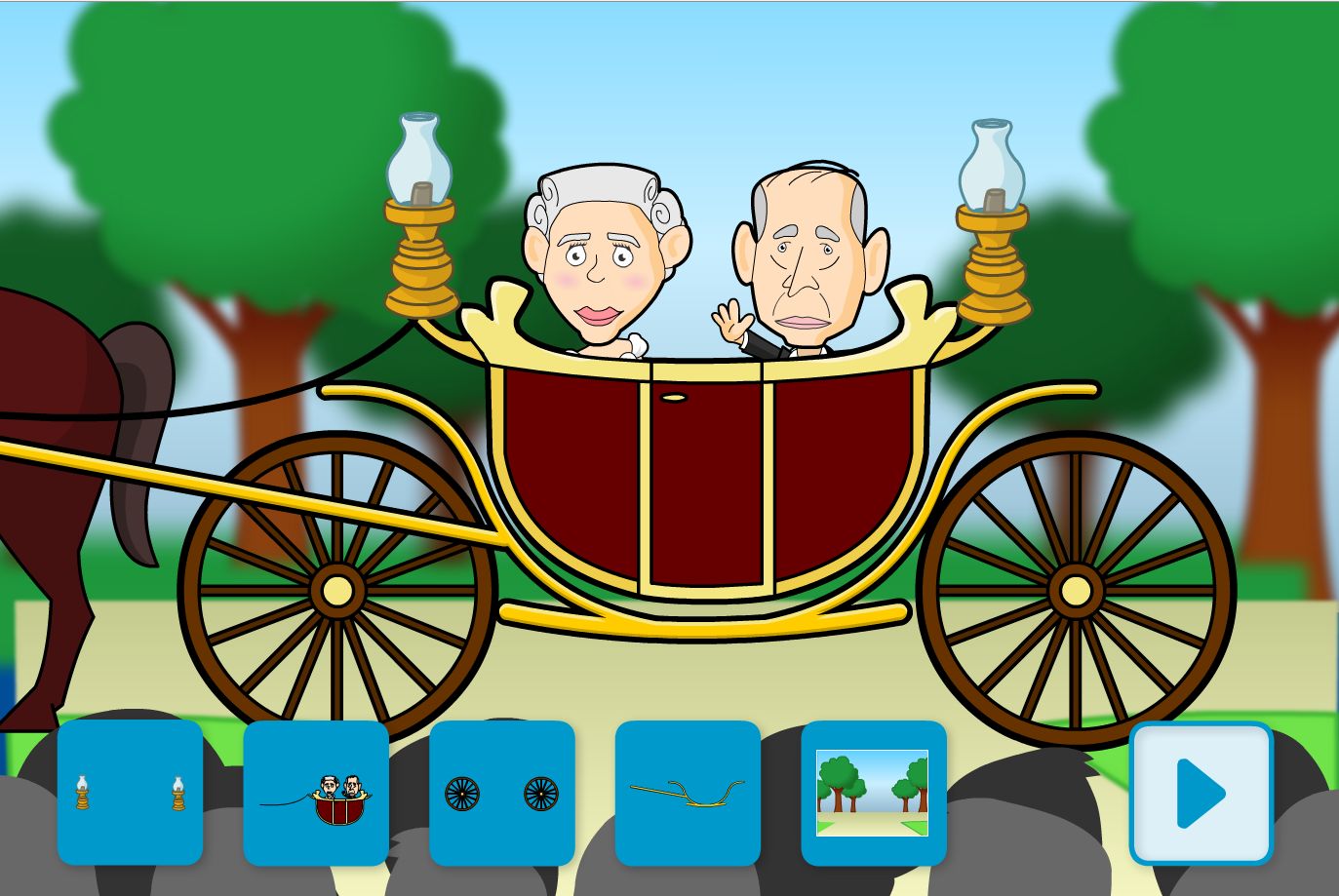 Design the Royal Carriage Interactive Game - KS1