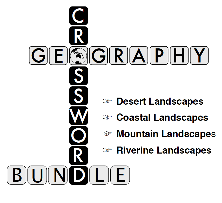 Geography Crossword Bundle #1