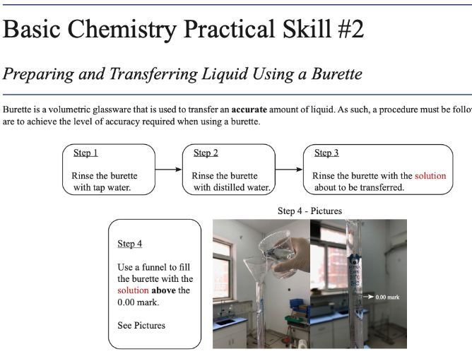 5 Basic Chemistry Practical Skills Manual for A Level