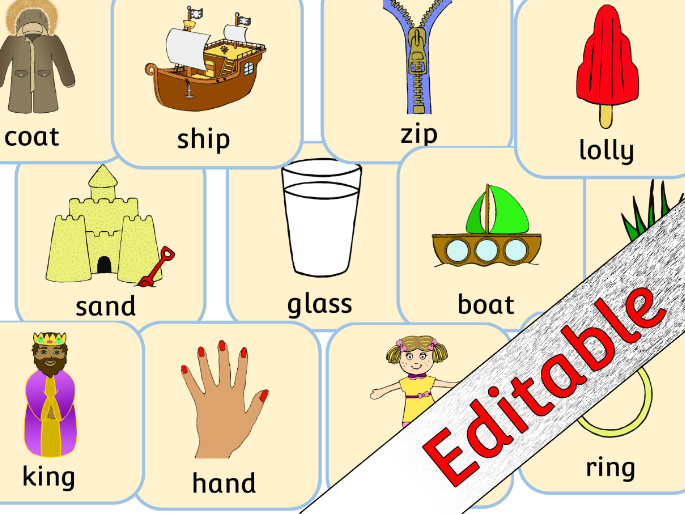 Rhyme Cards - Matching Pairs - Editable