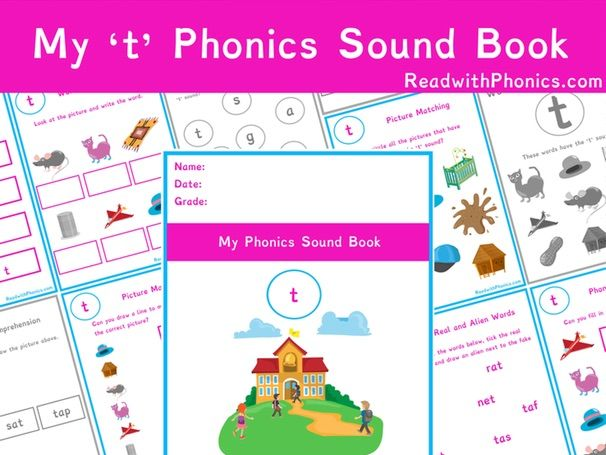 't' Sound Phonics Bundle 36 Pages | Phonics Resources | Phonics Worksheets | CVC Words | EYFS