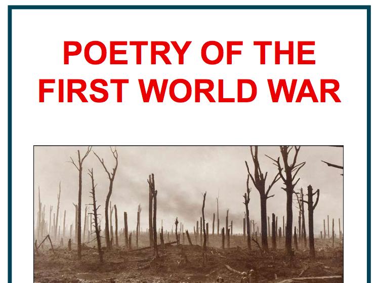 First World War Poetry KS4 Scheme of Work
