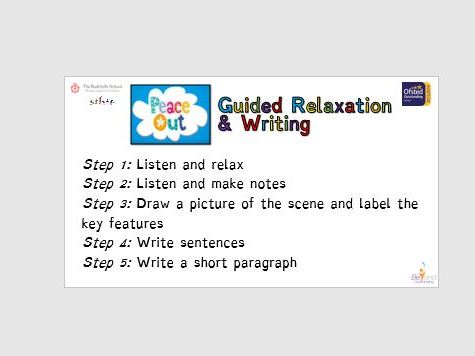 Peace Out Guided Relaxation Writing Prompts