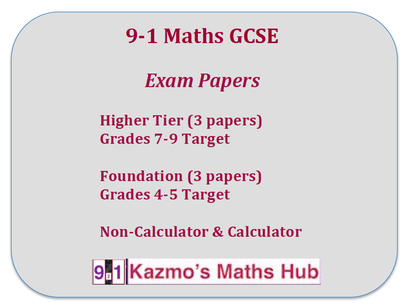 9-1 Maths GGCE Exam Papers