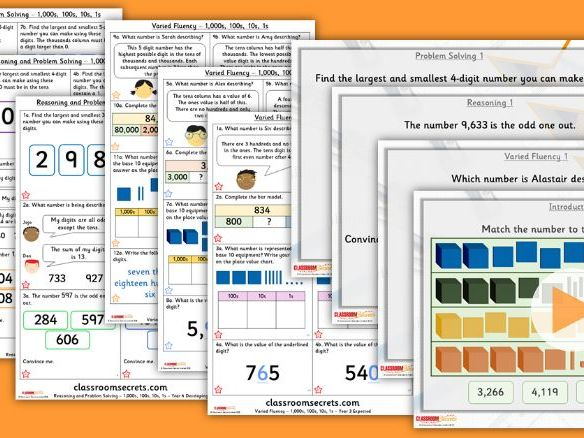 Year 4 1,000s, 100s, 10s, 1s Autumn Block 1 Step 5 Lesson Pack