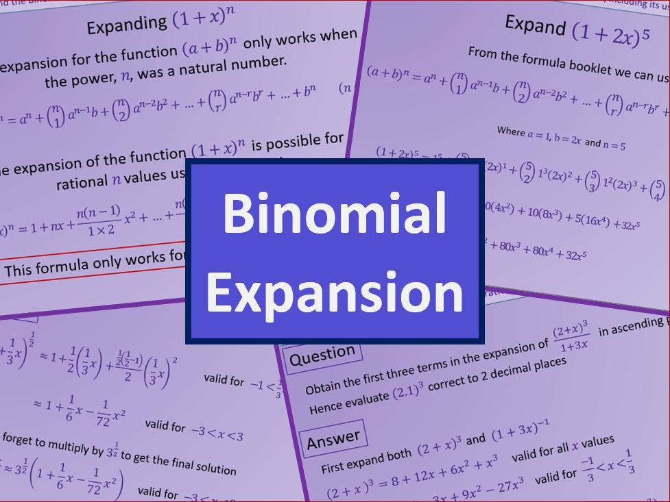 Binomial Expansion - A level A2 Mathematics