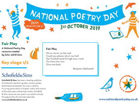 National Poetry Day 2019 Resource from Schofield & Sims