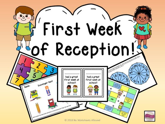 First Week of Reception/Starting School