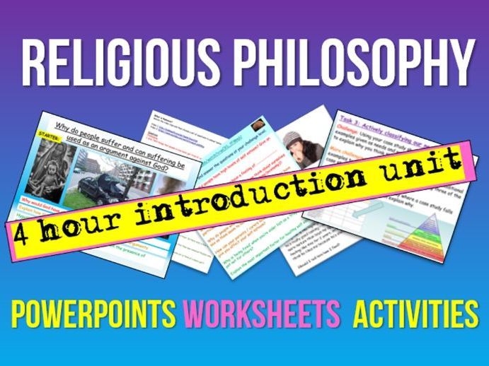 Religious Philosophy (4 lessons)