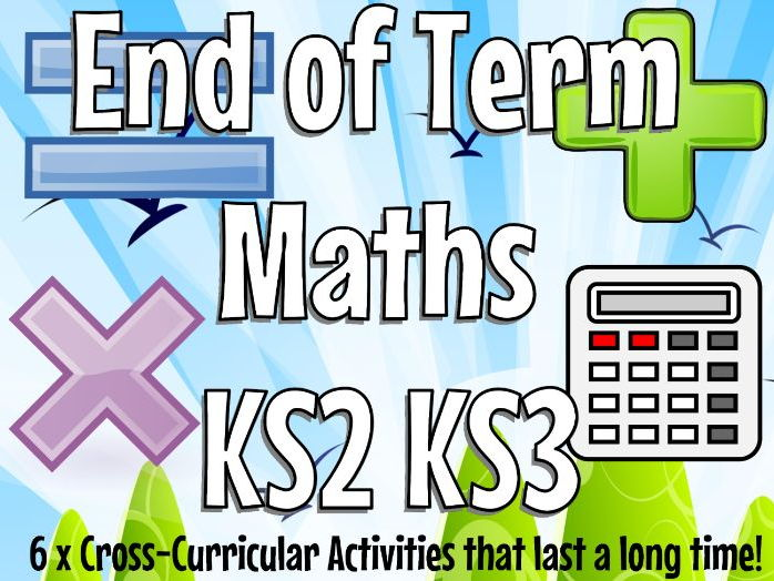 End of Term Maths Activities for KS2 or KS3 - Super Fun & Easy to Teach