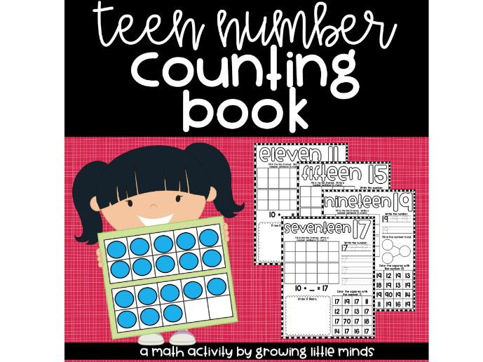 Teen Number Counting Book 11-20