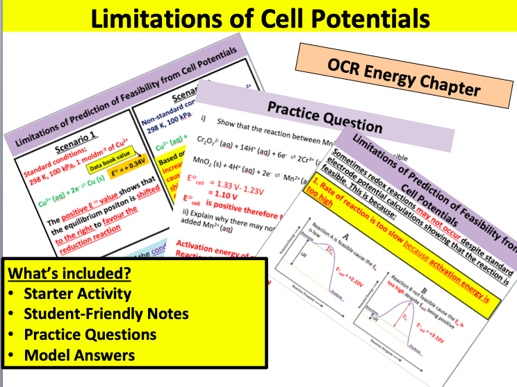 Limitations of Cell Potentials