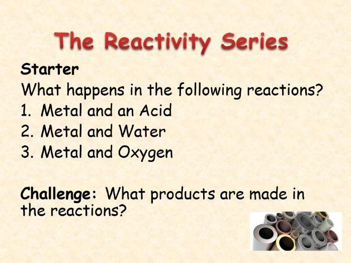 AQA Chemistry Topic 5: The Reactivity Series
